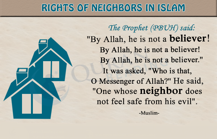 SEEK THE NEIGHBOUR BEFORE SEEKING THE HOUSE